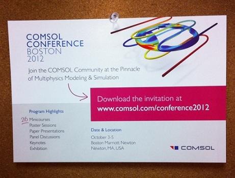 Invitation to the COMSOL Conference Boston 2012