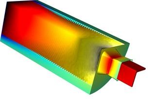 FSI model of aluminum extrusion