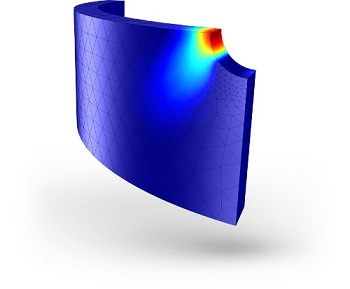 Simulate Fatigue using COMSOL; Fatigue analysis of cylinder with a hole