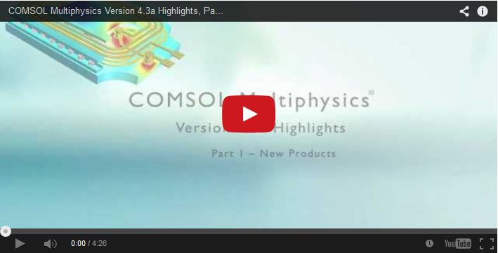 COMSOL 4.3a Highlights Video — New Products and Features ...