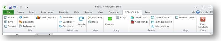 LiveLink for Excel toolbar