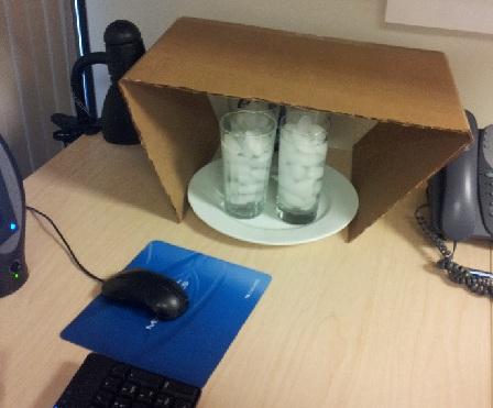 Make-shift air conditioner