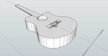 CAD image of CFRP acoustic guitar