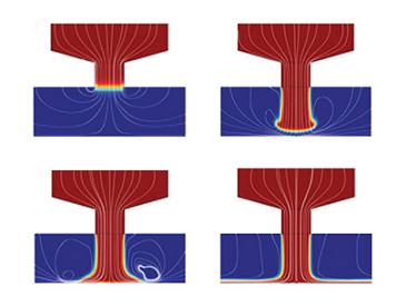 optical surface simulation of slurry