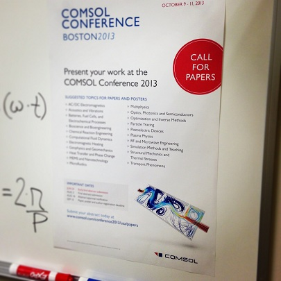 COMSOL Conference 2013 Call for Papers poster