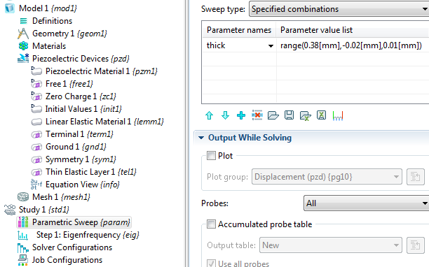 Performing an eigenfrequency calculation