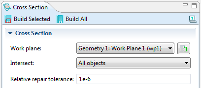 Selecting a Work Plane in COMSOL Multiphysics 4.3b