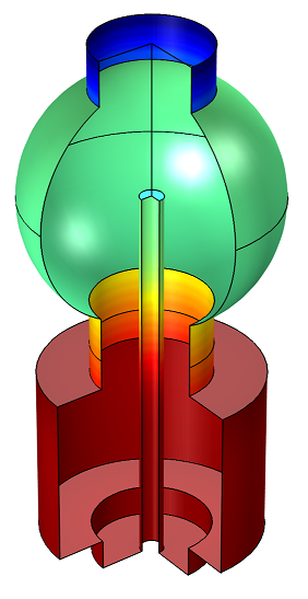 在 COMSOL Multiphysics 中模拟的水吸附