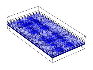 COMSOL mesh of thin-film, high-aspect-ratio structures