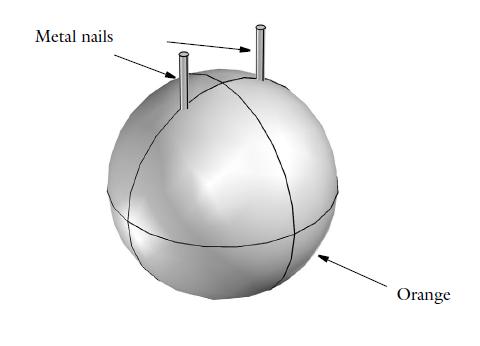 Geometry of an orange battery Моделирование электрохимических процессов на примере батарейки из апельсина