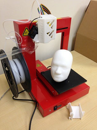 3D printer with printed COMSOL models
