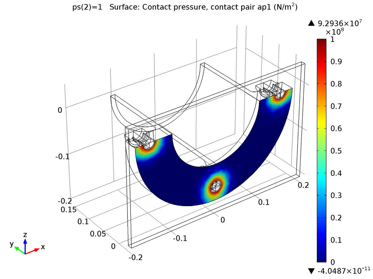 Simulating Tensile Stress in a Tube Connection with