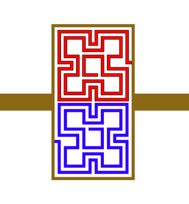 Geometry of the fractal spiral resonator