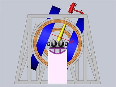 Linac-MR system's transverse rotating biplanar geometry