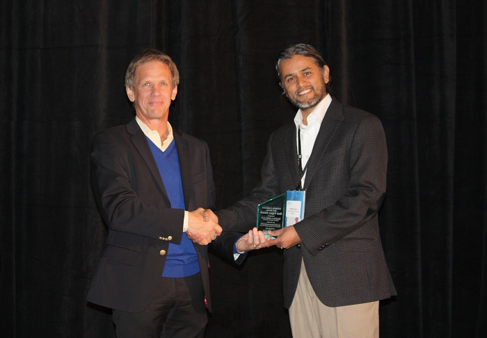 Best Paper winner: Kamlesh Suthar