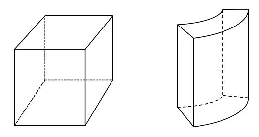 Block and a cylindrical shell geometries Как происходит построение расчётной сетки для линейных статических задач