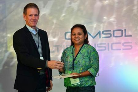 Best Paper award winner in the General category Fahmida Naznin from TVS Motors,Tamil Nadu