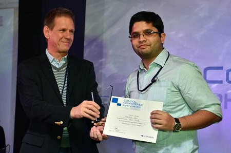 Best Poster award winner Harshad Surdi from Tata Institute of Fundamental Research (TIFR)