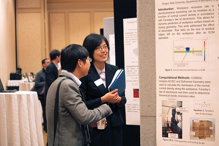 Mian during the Poster Session