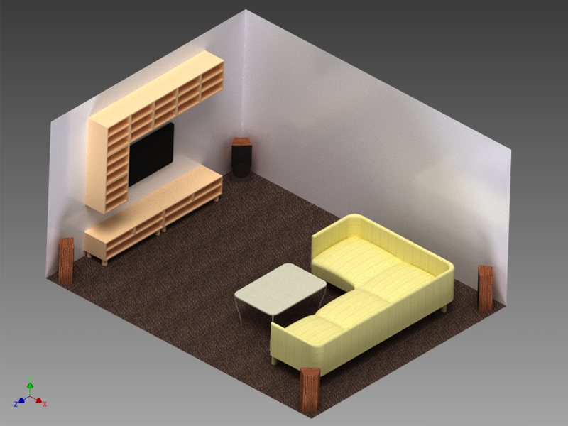 Your room from interior design to acoustics comsol blog for Model living room design