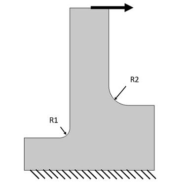 Adaptive meshing example model geometry