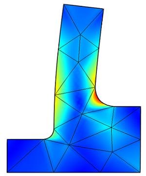Coarse mesh results to predict peak stresses