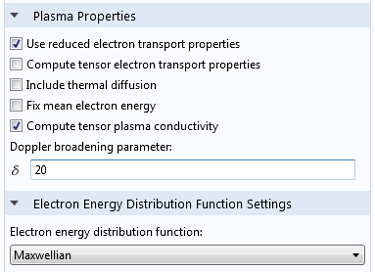 Select the Compute tensor plasma conductivity checkbox from the Plasma Properties section
