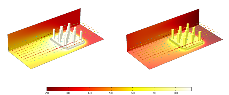 Сравнение профилей температуры радиаторов