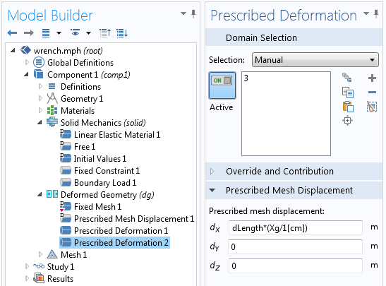 the Deformed Geometry interface of the CAD Import Module
