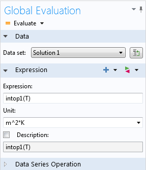 Evaluating the Integration operator