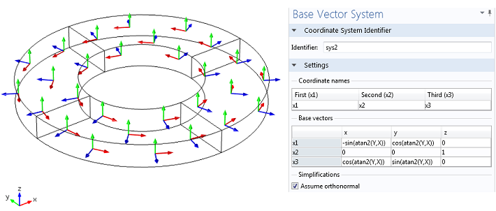 radial poling base vectors