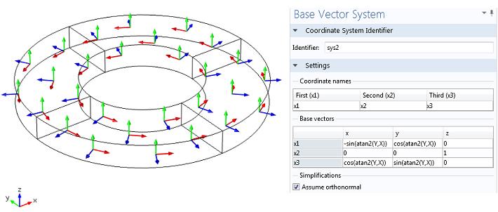radial poling base vectors