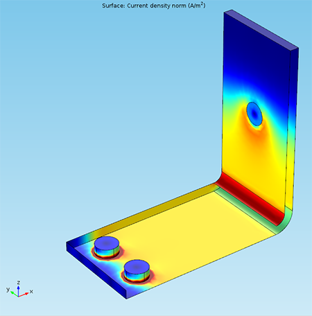 A busbar model showing the results of invisibility cloaking