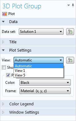 A screenshot of the Plot Settings
