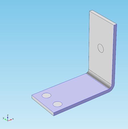 Screenshot of a busbar model where its faces will be hidden