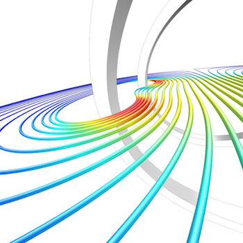 Alternate view of Helmholtz coil simulation results in COMSOL Multiphysics featured