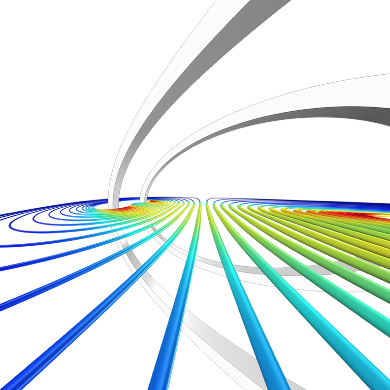 An example of simulating Helmholtz coils in COMSOL Multiphysics.