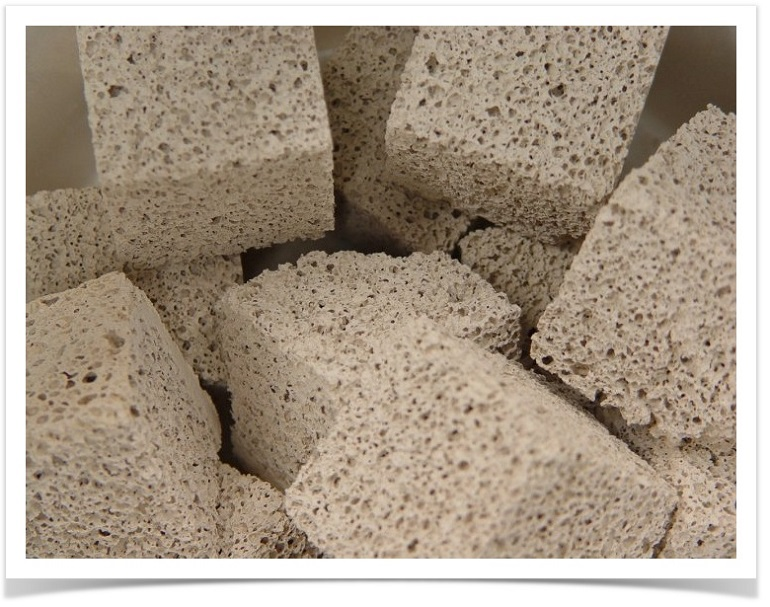 Image of multiple porous ceramic blocks