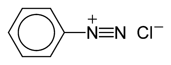Structure of the chemical compound benzenediazonium chloride