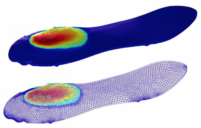 Example 3D immiscible multiphase model AMPHOS 21 created with the help of the adaptive mesh feature in COMSOL Multiphysics