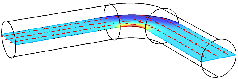 Image depicting the current density variation inside the conductor