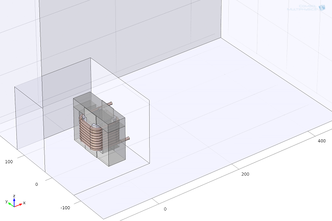 Screenshot of a detailed geometry of the inductor device