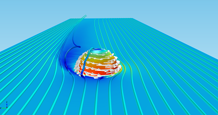 Velocity and pressure fields - small