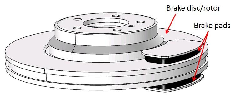 COMSOL Multiphysics wear simulation of the Disc brake model
