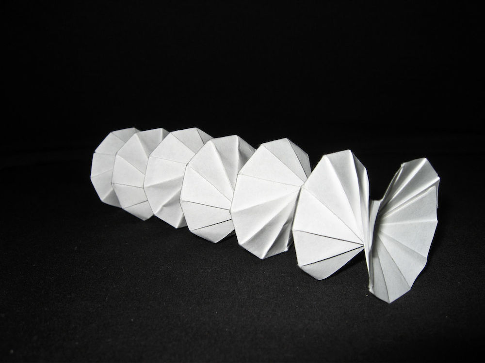 Photo of the Spring Into Action origami model.