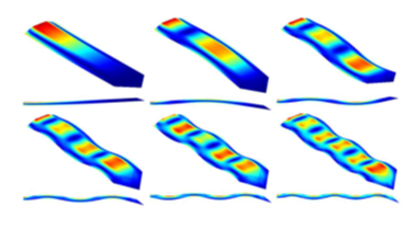 Image showing the simulation of atomic force microscopy.