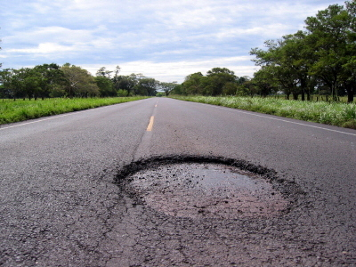 Infrared pothole repair is a new method of treating failures in asphalt, as depicted in this image.