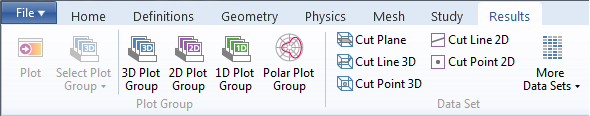 Ribbon in COMSOL Multiphysics.