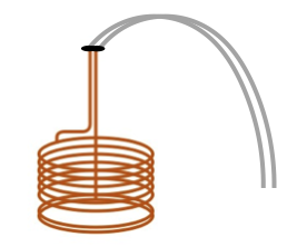 Drawing shows a wort chiller that can be used in the home beer brewing process.