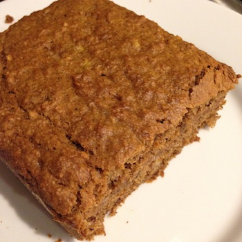 Baked banana bread made with brown sugar